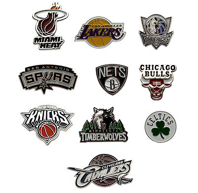 Official NBA - Crest Metal Pin BADGE (American Basketball) All Teams