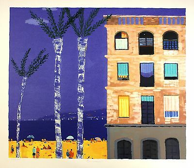 "ALAN FURNEAUX ""Barcelona"" beach ocean SIGNED LIMITED ED SIZE:73cm x 80cm NEW"