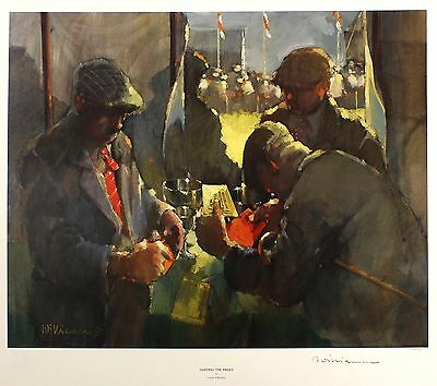 "LAWRIE WILLIAMSON ""Sorting Prizes"" country fair LE SGD! SIZE:50cm x 57cm NEW"