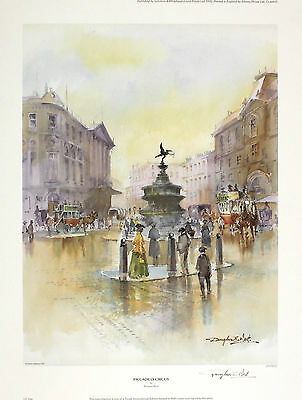 "DOUGLAS WEST ""Piccadilly Circus"" london eros SGD LTD ED SIZE:47cm x 36cm NEW"