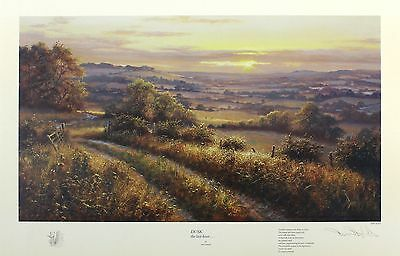"DAVID DIPNALL ""Dusk the Last Hour"" sunset SGD LIMITED! SIZE:45cm x 64cm NEW RARE"