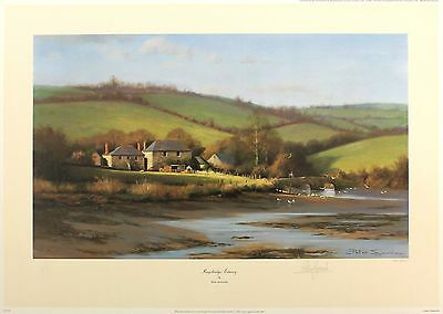 "PETER SYMONDS ""Kingsbridge Estuary"" devon SIGNED LTD ED SIZE:42cm x 59cm NEW"