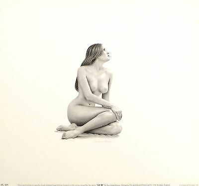 "ANN JAMES MASSEY ""Liz III"" nude woman SIGNED ltd ed! SIZE:35cm x 37cm NEW RARE"
