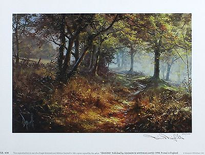 "DAVID DIPNALL ""Seasons - Autumn"" woodland SIGNED LTD ED SIZE:26cm x 35cm NEW"