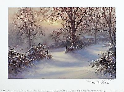 "DAVID DIPNALL ""Seasons - Winter"" countryside SGD LTD ED SIZE:26cm x 35cm NEW"