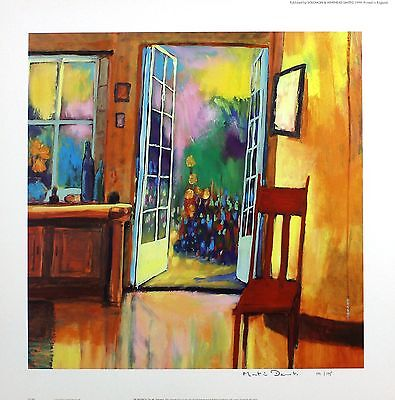 "MARTIN DECENT ""In France"" dining room SIGNED LIMITED ED SIZE:45cm x 45cm NEW"