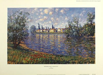 "LIONEL AGGETT ""Morning Light - Lavacourt"" SIGNED LTD ED SIZE:34cm x 47cm NEW"