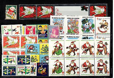 USA 54 Cinderell stamps 1936-1990 (National tuberculosis associations) Scott cat