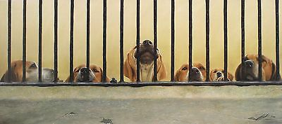 "JOHN SILVER ""Jailhouse Rock"" hounds dogs SIGNED LTD ED! SIZE:37cm x 79cm NEW"