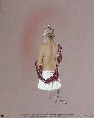 "KAY BOYCE ""Lucy"" nude woman dress SIGNED! SIZE:36cm x 29cm OUT-OF-PRINT LE RARE"