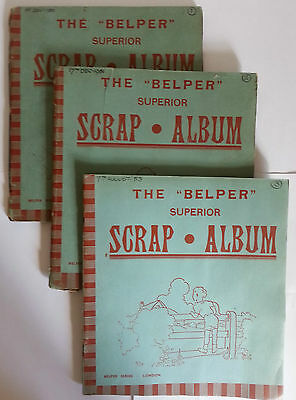 Teddy Tail Cartoons in Three Scrap Albums Dated 1950 - 1953
