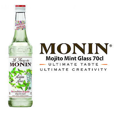 MONIN Coffee Syrups - 70cl Glass MOJITO MINT Syrup - USED BY COSTA COFFEE