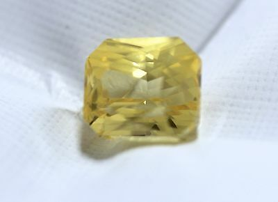 Certified 2.14ct Natural Yellow Sapphire-Radiant cut