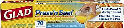 New GLAD Press'n Seal Multi Purpose Sealing Wrap 70 Foot Roll 21.6 x 30cm