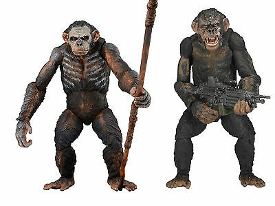 DAWN OF THE PLANET OF THE APES : KOBA - Serie 1 & 2 - 2 FIGURES - NEW !!!! NECA