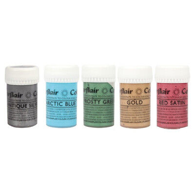 Sugarflair SATIN Concentrated Food Icing Colouring Edible Paste Gel Colours 25g