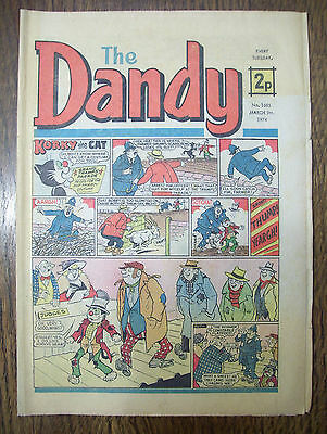 'The Dandy' no.1685 March 9th,1974 in acceptable condition