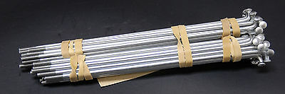 Bicycle Spoke (10) Vintage Raleigh Galvanized Steel Spokes Silver 300