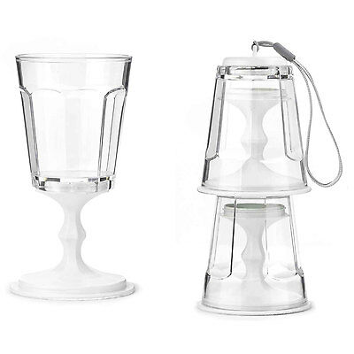 White Collapsible Wine Goblet (Set of 2) by Kikkerland