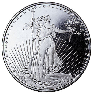 Highland Mint 1 oz .999 Fine Silver Saint-Gaudens Design Round SKU45168