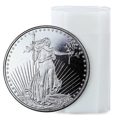 Highland Mint 1 oz. Silver Saint-Gaudens Design Round Roll of 20 Rounds SKU45171