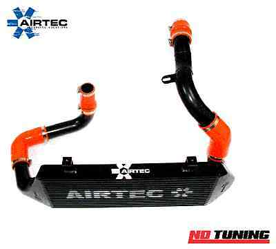 Vauxhall Astra H VXR Mk5 AIRTEC Stage 2 Intercooler SILVER Finish Black Hoses