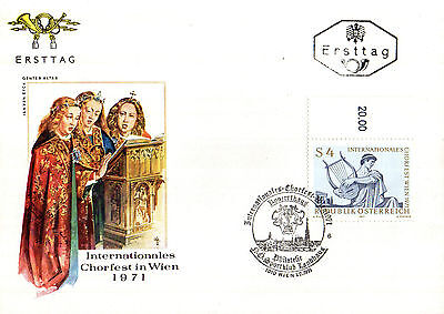 1 July 1971 Austria Choral Festival First Day Cover Shs