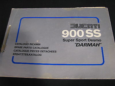 "Spare Parts Catalogue Ducati 900 SS Super Sport Desmo ""Darmah"" (JvH)"