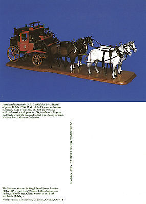 Post Haste Exhibition Postcard Mint Unused By National Postal Museum