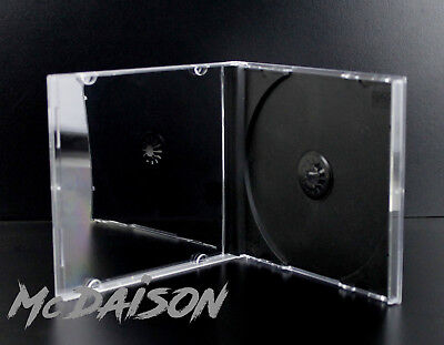 Custodia jewel case 1 CD musicale standard 10mm tray nero ottima qualità