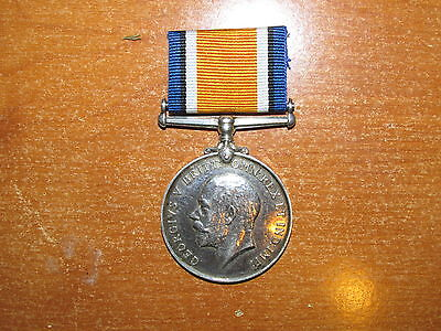 WW1 silver British War Medal 9th Lancers Cavalry nice
