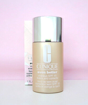 Clinique Even Better Foundation/Makeup SPF 15 -  Ivory - 30ml Boxed