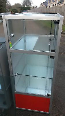 Glass Display Cabinets.  With Lights,