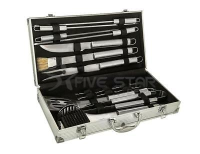 18Pc Stainless Steel Barbecue Grill Utensil Set Portable Bbq Cooking Tools