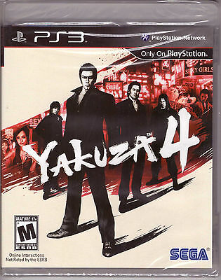 Yakuza 4 [Playstation 3 PS3 Exclusive Japan Crime Syndicates] Brand New Sealed