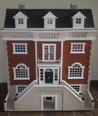 Gorgeous Georgian Hand Made Wooden Dolls House!! With Accessories
