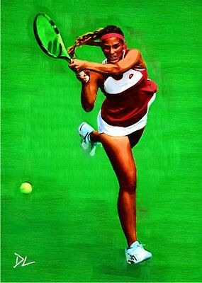 Monica Puig Puerto Rico Olympic Sketch Card *Artist Signed* Rare Serial 5/5
