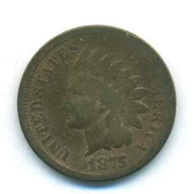 1875 Indian Cent