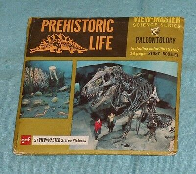 vintage PREHISTORIC LIFE (paleontology) VIEW-MASTER REELS with booklet