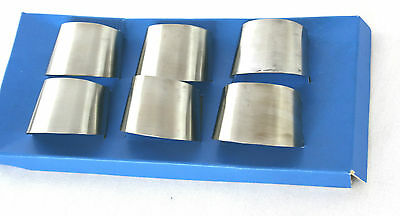 Mid Century Stainless Steel Napkin Rings Set of 6 Boxed