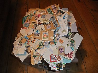 350g KILOWARE. UNSORTED STAMPS. 1970'S TO PRESENT DAY