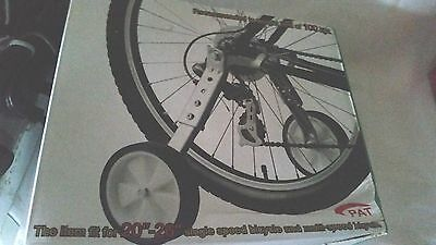 "Adjustable Adult Bicycle Bike Training Wheels Fits 20"" to 26"" NEW, BOX AS SEEN"