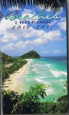 Beaches  2016-2017 - 2 Year Pocket Purse Calendar Agenda Planner  Book*