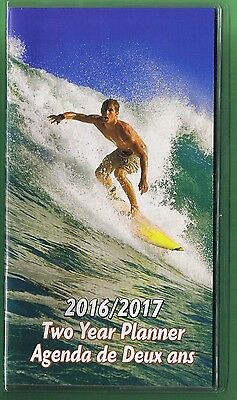 2016-2017 - 2 Year Pocket Calendar Planner Agenda Appointment Book Surfing