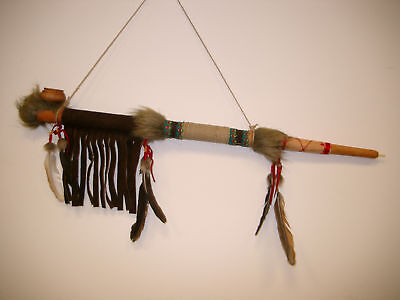 NATIVE INDIAN STYLE FUNCTIONAL OR DECORATIVE PEACE PIPE PIPES CALUMET / pipe70