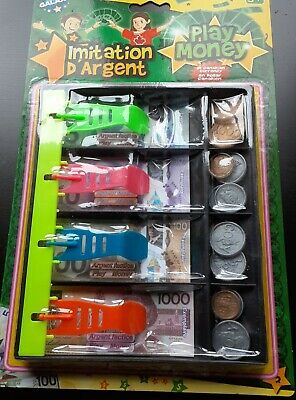Jumbo Pack Of Play Money With Canada Paper$ Bills- 180 Assorted Pieces -Canadian