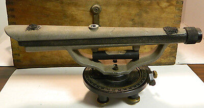 Vintage Berger Surveyors Transit Model 190 A In Wooden Box Very Good Condition