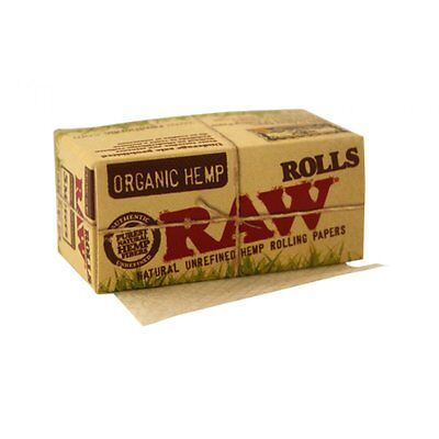 RAW ORGANIC HEMP 5 Meter ROLL Natural Rolling Papers Vegan Friendly Product