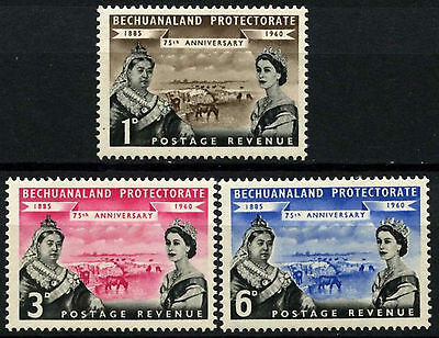Bechuanaland Protectorate 1960 SG#154-6, 75th Anniv Protectorate MH Set #D43264