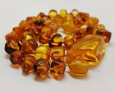 Necklace Baltic Amber Natural Stone Nr152 12,9g Butterscotch For Kids Beautiful